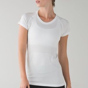 White Lululemon Swiftly Tech SS Tee Shirt